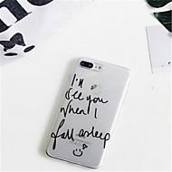 abordables Estuches Cool & Fashion para iPhone-Funda Para Apple iPhone 7 Plus / iPhone 6 Plus Diseños Funda Trasera Palabra / Frase Suave TPU para iPhone 7 Plus / iPhone 7 / iPhone 6s Plus