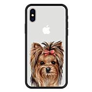Недорогие Кейсы для iPhone 8-Кейс для Назначение Apple iPhone X / iPhone 8 Plus С узором Кейс на заднюю панель С собакой / Животное / Мультипликация Твердый Акрил для iPhone X / iPhone 8 Pluss / iPhone 8