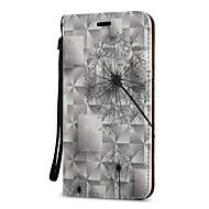 Недорогие Чехлы и кейсы для Galaxy S9 Plus-Кейс для Назначение SSamsung Galaxy S9 S9 Plus Бумажник для карт Кошелек со стендом Флип Чехол одуванчик Твердый Кожа PU для S9 Plus S9
