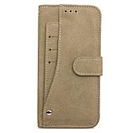 Недорогие Чехлы и кейсы для Galaxy Note-Кейс для Назначение SSamsung Galaxy Note 8 Бумажник для карт со стендом Флип Чехол Однотонный Твердый Кожа PU для Note 8