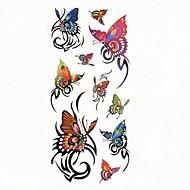 billiga Temporära tatueringar-1 pcs Tatueringsklistermärken tillfälliga tatueringar Djurserier Vattentät Body art Kropp / arm / skuldra