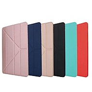 cheap iPad  Cases / Covers-Case For Apple iPad 10.5 iPad (2017) with Stand Magnetic Origami Full Body Cases Solid Colored Hard Silicone for iPad Mini 4 iPad Mini