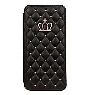 Недорогие Чехлы и кейсы для Galaxy S8 Plus-Кейс для Назначение SSamsung Galaxy S9 S9 Plus Бумажник для карт Стразы со стендом Чехол Плитка Геометрический рисунок Твердый Кожа PU для