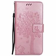 Недорогие Чехлы и кейсы для Galaxy Note-Кейс для Назначение SSamsung Galaxy Note 5 Кошелек со стендом Флип Чехол Цветы дерево Твердый Кожа PU для Note 5 Note 4 Note 3
