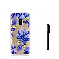 Недорогие Чехлы и кейсы для Galaxy S8 Plus-Кейс для Назначение SSamsung Galaxy S9 S9 Plus Полупрозрачный Кейс на заднюю панель Цветы Мягкий ТПУ для S9 Plus S9 S8 Plus S8 S7 edge S7