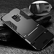 Недорогие Чехлы и кейсы для Galaxy S9 Plus-Кейс для Назначение SSamsung Galaxy S9 S9 Plus Защита от удара со стендом Кейс на заднюю панель броня Твердый ТПУ для S9 Plus S9 S8 Plus