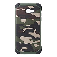 billige Galaxy A5(2016) Etuier-Etui Til Samsung Galaxy A8 2018 A8 Plus 2018 Stødsikker Rustning Bagcover Camouflage Hårdt PC for A5(2018) A7(2018) A3 (2017) A5 (2017)