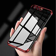 お買い得  携帯電話ケース-ケース 用途 Huawei P10 P10 Lite メッキ仕上げ 超薄型 透明体 バックカバー ソリッド ソフト TPU のために P10 Lite P10 Huawei P9 Lite Huawei P9 P8 Lite (2017) Huawei P8 Lite