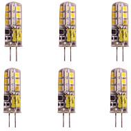 お買い得  -WeiXuan 6本 2W 160lm G4 LED2本ピン電球 T 24 LEDビーズ SMD 2835 温白色 クールホワイト 12V