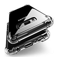 Недорогие Чехлы и кейсы для Galaxy S9-Кейс для Назначение SSamsung Galaxy S9 S9 Plus Защита от удара Прозрачный Body Кейс на заднюю панель Однотонный Мягкий ТПУ для S9 Plus S9