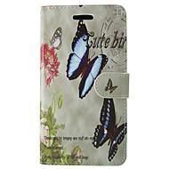 Недорогие Чехлы и кейсы для Galaxy А-Кейс для Назначение SSamsung Galaxy A3(2017) Бумажник для карт Кошелек со стендом Флип Чехол Бабочка Цветы Твердый Кожа PU для A3 (2017)