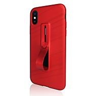 Недорогие Кейсы для iPhone 8-Кейс для Назначение Apple iPhone X iPhone 8 Plus Кольца-держатели Кейс на заднюю панель Однотонный Мягкий ТПУ для iPhone X iPhone 8 Pluss