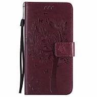 Недорогие Чехлы и кейсы для Galaxy S-Кейс для Назначение SSamsung Galaxy S9 S9 Plus Кошелек со стендом Флип Чехол Цветы дерево Твердый Кожа PU для S9 Plus S9 S8 Plus S8 S7