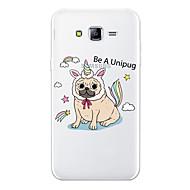 Недорогие Чехлы и кейсы для Galaxy J3-Кейс для Назначение SSamsung Galaxy J7 (2017) J7 (2016) С узором Кейс на заднюю панель С собакой Мультипликация Животное Мягкий ТПУ для
