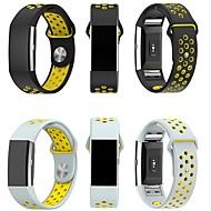 Недорогие Аксессуары для смарт-часов-Ремешок для часов для Fitbit Charge 2 Fitbit Спортивный ремешок Миланский ремешок силиконовый Повязка на запястье