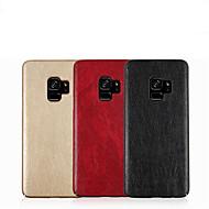 Недорогие Чехлы и кейсы для Galaxy S9-Кейс для Назначение SSamsung Galaxy S9 S9 Plus Рельефный Кейс на заднюю панель Однотонный Твердый Кожа PU для S9 Plus S9 S8 Plus S8 S7