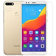 お買い得  スクリーンプロテクター-スクリーンプロテクター Huawei のために Honor 7C(Enjoy 8) Y9 (2018)(Enjoy 8 Plus) PET 強化ガラス 2 PCS フロント&カメラレンズプロテクター アンチグレア 指紋防止 傷防止 硬度9H ハイディフィニション(HD)
