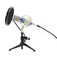 preiswerte Mikrofone-KEBTYVOR BM700+PC03+Pop Filter Mit Kabel Mikrofon Kondensatormikrofon Handmikrofon Für Computer Mikrofon