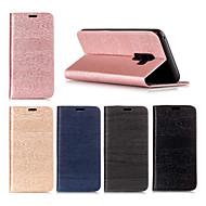 Недорогие Чехлы и кейсы для Galaxy S7-Кейс для Назначение SSamsung Galaxy S9 Plus / S9 Кошелек / Бумажник для карт / со стендом Чехол Однотонный Твердый Кожа PU для S9 / S9 Plus / S8 Plus
