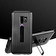 Недорогие Чехлы и кейсы для Galaxy S9 Plus-Кейс для Назначение SSamsung Galaxy S9 / S9 Plus Защита от удара / со стендом Кейс на заднюю панель Полосы / волосы Твердый ПК для S9