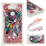 billige Mobilcovers-Etui Til Sony Xperia XZ2 / Xperia L2 Stødsikker / Flydende væske / Mønster Bagcover Glitterskin / Drømme fanger Blødt TPU for Xperia XZ2