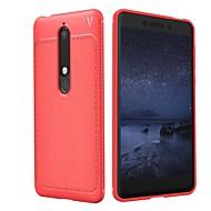 お買い得  携帯電話ケース-ケース 用途 Nokia 8 Sirocco / Nokia 6 2018 エンボス加工 バックカバー ソリッド ソフト TPU のために 8 Sirocco / Nokia 7 Plus / Nokia 7