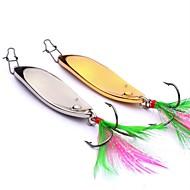 お買い得  釣り用アクセサリー-2 pcs メタルベイト スプーン / メタルベイト メタリック 屋外 ベイトキャスティング / ルアー釣り / 一般的な釣り