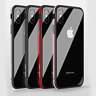 Недорогие Кейсы для iPhone 8 Plus-Кейс для Назначение Apple iPhone X / iPhone 8 Защита от удара / Зеркальная поверхность Кейс на заднюю панель Однотонный Твердый