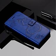 Недорогие Чехлы и кейсы для Galaxy A3(2016)-Кейс для Назначение SSamsung Galaxy A8 Plus 2018 / A8 2018 Кошелек / Бумажник для карт / со стендом Чехол Бабочка Твердый Кожа PU для A3