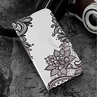 preiswerte Handyhüllen-Hülle Für Wiko WIKO Sunny 2 plus Geldbeutel / Kreditkartenfächer / mit Halterung Ganzkörper-Gehäuse Blume Hart PU-Leder für Wiko View