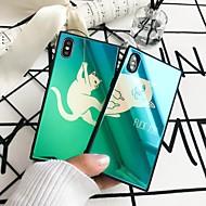 Недорогие Кейсы для iPhone 8-Кейс для Назначение Apple iPhone 8 / iPhone 6 Plus Покрытие Кейс на заднюю панель Кот Твердый Силикон для iPhone X / iPhone 8 Pluss /