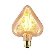 abordables Bombillas Incandescentes-1pc 40 W E26 / E27 Estrella Amarillo cálido 2300 k Retro / Decorativa / Stripes / Ondulaciones Bombilla incandescente Vintage Edison 220-240 V