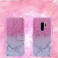 Недорогие Чехлы и кейсы для Galaxy S9-Кейс для Назначение SSamsung Galaxy S9 / S9 Plus Кошелек / Флип Чехол Мрамор Твердый Кожа PU для S9 Plus / S9
