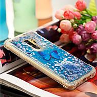 Недорогие Чехлы и кейсы для Galaxy S9-Кейс для Назначение SSamsung Galaxy S9 Plus / S9 Защита от удара / Движущаяся жидкость / С узором Кейс на заднюю панель Бабочка Мягкий ТПУ