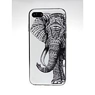 Недорогие Кейсы для iPhone 8 Plus-Кейс для Назначение Apple iPhone X / iPhone 7 Ультратонкий / С узором / Милый Кейс на заднюю панель Слон / Животное Мягкий ТПУ для iPhone