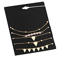 cheap -Women's 5pcs Chain Bracelet / Charm Bracelet - Metallic / Vintage Circle / Geometric Gold Bracelet For Date / Street / Women's / 5pcs