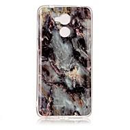 お買い得  携帯電話ケース-ケース 用途 Huawei Enjoy 6A パターン バックカバー マーブル ソフト TPU のために Huawei Enjoy 6s