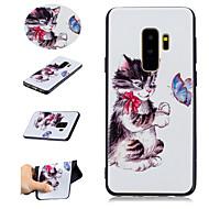 Недорогие Чехлы и кейсы для Galaxy S8 Plus-Кейс для Назначение SSamsung Galaxy S9 S9 Plus С узором Кейс на заднюю панель Кот Бабочка Мягкий ТПУ для S9 Plus S9 S8 Plus S8 S7 edge S7