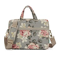"13.3 ""14"" 15.6 ""bolso bandolera bandolera bolsos lienzo estampado floral para macbook / surface / hp / dell / samsung / sony etc."