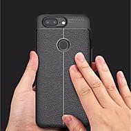 お買い得  携帯電話ケース-ケース 用途 OnePlus OnePlus 5T エンボス加工 バックカバー ソリッド ソフト TPU のために OnePlus 5T