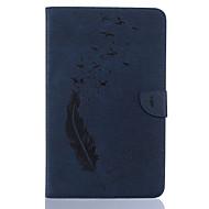 Недорогие Чехлы и кейсы для Samsung Tab-Кейс для Назначение SSamsung Galaxy Tab A 10.1 (2016) Бумажник для карт Кошелек со стендом С узором Авто Режим сна / Пробуждение Чехол
