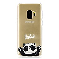 Недорогие Чехлы и кейсы для Galaxy S-Кейс для Назначение SSamsung Galaxy S9 Plus / S8 Plus Прозрачный / С узором Кейс на заднюю панель Панда Мягкий ТПУ для S9 Plus / S9 / S8