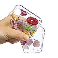 Недорогие Кейсы для iPhone 8 Plus-Кейс для Назначение Apple iPhone X / iPhone 6 С узором Кейс на заднюю панель Продукты питания Мягкий ТПУ для iPhone 8 Pluss / iPhone 7 Plus / iPhone 7