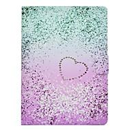 Недорогие Чехлы и кейсы для Galaxy Tab 3 10.1-Кейс для Назначение SSamsung Galaxy Tab 3 10.1 Бумажник для карт / Защита от удара / со стендом Чехол С сердцем Твердый Кожа PU для Tab 3 10.1