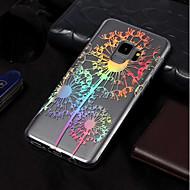 Недорогие Чехлы и кейсы для Galaxy S9 Plus-Кейс для Назначение SSamsung Galaxy S9 / S9 Plus IMD / С узором Кейс на заднюю панель одуванчик Мягкий ТПУ для S9 Plus / S9 / S8 Plus