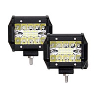 Недорогие Внешние огни для авто-2pcs Автомобиль Лампы 60W Интегрированный LED 6000lm 20 Светодиодная лампа Внешние осветительные приборы For Универсальный 2018