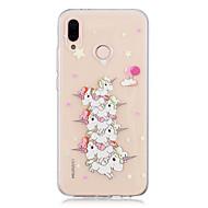 お買い得  携帯電話ケース-ケース 用途 Huawei P20 lite / P20 クリア / パターン バックカバー ユニコーン ソフト TPU のために Huawei P20 lite / Huawei P20 Pro / Huawei P20