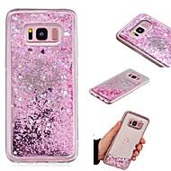 Недорогие Чехлы и кейсы для Galaxy S8 Plus-Кейс для Назначение SSamsung Galaxy S7 edge / S7 Движущаяся жидкость / Зеркальная поверхность Кейс на заднюю панель Сияние и блеск Твердый