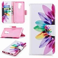 お買い得  携帯電話ケース-ケース 用途 LG K10 2018 / G7 ウォレット / カードホルダー / スタンド付き フルボディーケース フラワー ハード PUレザー のために LG V30 / LG V20 / LG Q6