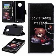 preiswerte Handyhüllen-Hülle Für Motorola MOTO G6 / Moto G6 Plus Geldbeutel / Kreditkartenfächer / mit Halterung Ganzkörper-Gehäuse Wort / Satz Hart PU-Leder für